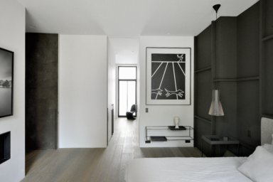 extra lange planken in architectenwoning in Brussel